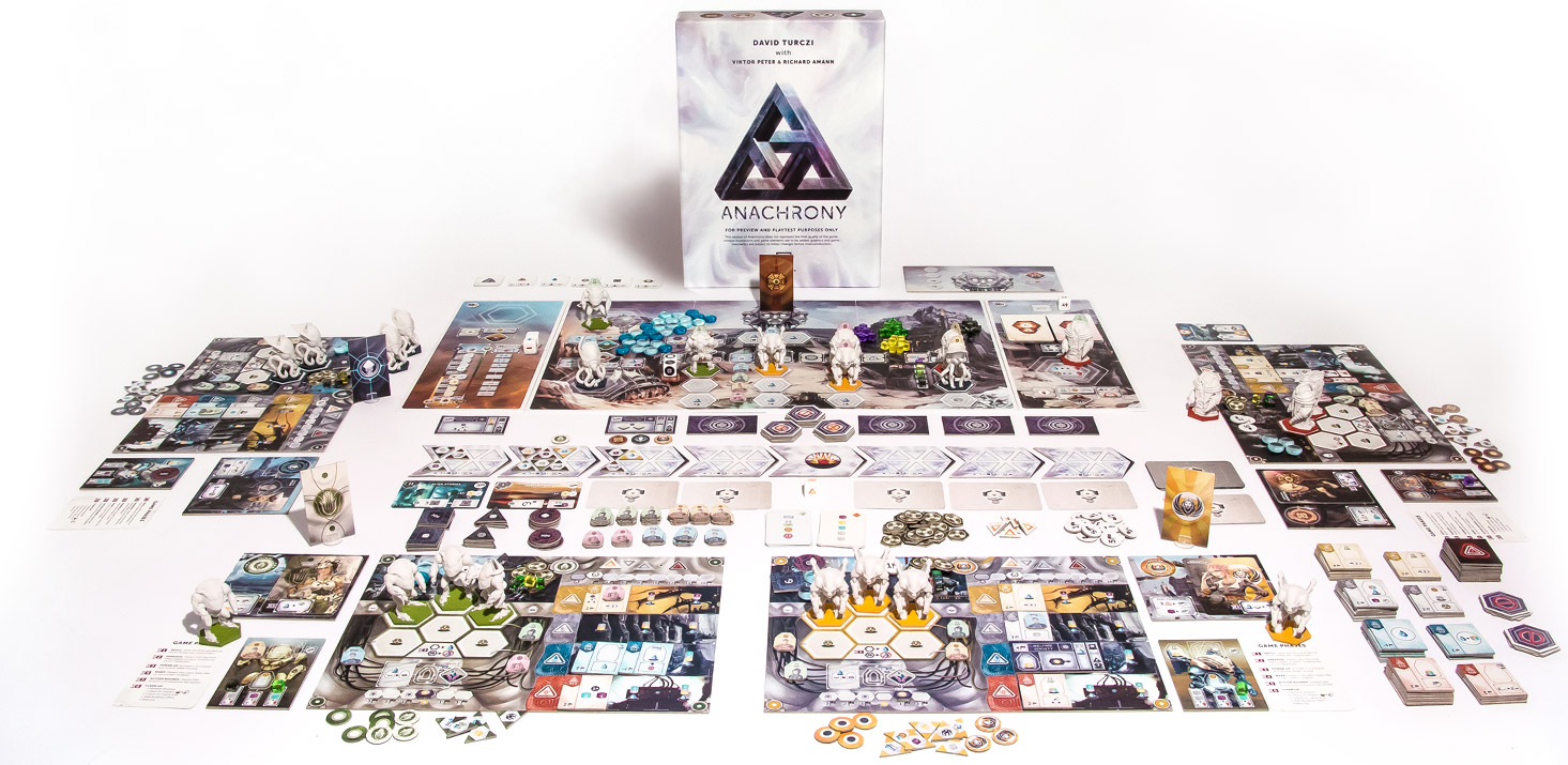 Anachrony board game contents photo